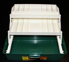 FISHER TWO TRAY TACKLE BOX WORM PROOF 30 COMPARTMENTS RODS,REELS