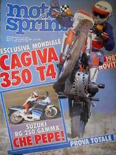 Motosprint 37 1986 Esclusiva Cagiva 350 T4. Suzuki RG 250. Carlos Lavado [Q78]