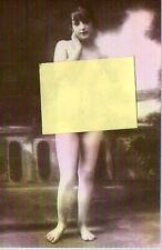 22829 cartolina riproduzione foto d'epoca nudo donna sexi  ---balconata