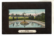 The Fountain Town Gardens - Swindon Photo Postcard 1909