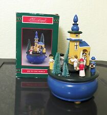 House of Lloyd Joy to the World Christmas Music Box Rotating Angels Wisemen EC