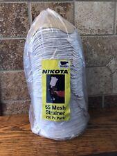 Nikota 55 Mesh Paint Strainer 250 Piece Pack