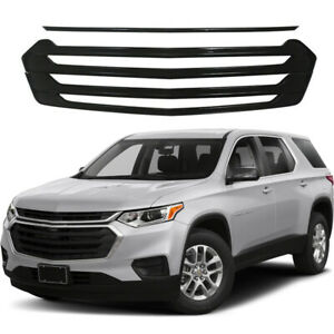 Front Grille Grill Overlays For 2018 2019 2020 Chevrolet Traverse Snap On Black