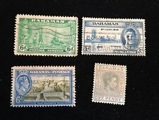 1941-1948 Bahamas Postage Stamps, Used, Lot of 4