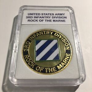 "3RD Infantry Division US Army Challenge Coin ""Rock of the Marne"" USA A45"
