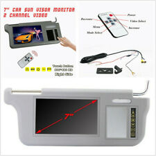 "12V 7"" 2 Channel Video Sunvisor Rear View Mirror Screen LCD Monitor Touch Button"