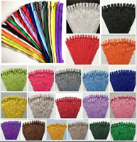 10-200pcs 3# Nylon Coil Zippers Tailor Sewer Craft (5-7 Inch) Crafter's &FGDQRS