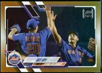 2021 Topps Series 1 Gold Foil #210 Get Up! New York Mets Pete Alonso