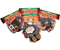 Lot of 4 Vintage Repro Halloween Beistle Tissue Dancers and Jointed Cat Streamer