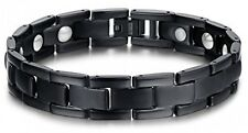 Bracelet Gift For Mens,Free Link Pure Titanium Magnetic Therapy Stainless Steel
