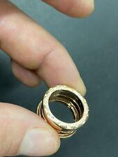 Bulgari Bvlgari B Zero Bzero Anello Ring Oro Rosa Rose Gold 50 10 HFM9F6