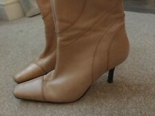 Ladies FAITH  Beige Real Leather Ankle boots  - Size 6 Excellent Condition