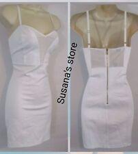 NWT bebe Jaynee Mesh Trim Mini Dress SIZE M Sexy bodycon, retail $91