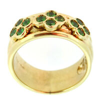 Ring 375 Gold (9 Karat) massiv 6,7g Tsavorit 0,6ct 51 (16,2 mm Ø) Sogni D´oro
