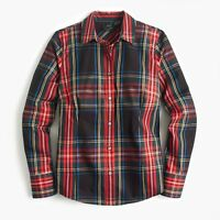 J.CREW Curvy Slim Stretch Perfect Shirt STEWART TARTAN K3862 0 2 4 14 16