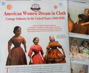 8p History Article - American Cottage Industry Cloth Rag Dolls 1840-1930