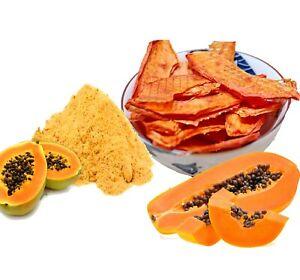 Organic Papaya fruit powder/Slices natural premium grade A quality Carica papaya