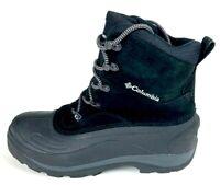 Columbia Mens Cascadian Summit II Winter Boots Black Water Resistant 11 New
