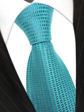 Seidenkrawatte in türkis grau gepunktet - Tie Krawatte 100% reine Seide Silk