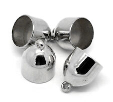10Pcs Bead Cap Drops Acrylic Silver Tone Wrap Scarf Jewelry DIY Finding 27x21mm
