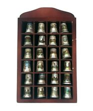 24 Vintage Porcelain Sewing Decorative Thimbles Display Geographic Collection