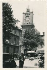 Snapshot Aix-En-Provence mai 1934 animée marché voiture ancienne vintage car