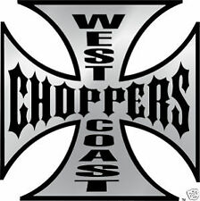 AUTOCOLLANT STICKER WEST COAST CHOPPERS 75 x 75 mm TUNING AUTO MOTO BIKER