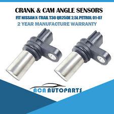 Fit Nissan X-Trail T30 QR25DE 2.5L Crank & Cam Angle Sensor 01-07 TOP Quality