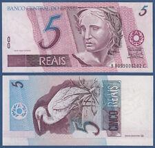 BRASILIEN / BRAZIL 5 Reais (1997-) UNC P.244Ah