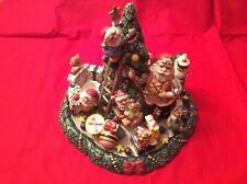 Fitz & Floyd ~ Santa's Magic Workshop ~ Candelabra Centerpiece ~ Pristine In Box