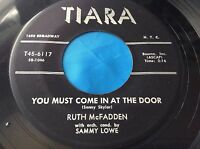 Hear Rare Female R&B Sax Bopper 45 : Ruth McFadden ~ You Must Come In At Door
