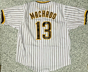 San Diego Manny Machado Signed Jersey Autographed Beckett BAS Authenticated