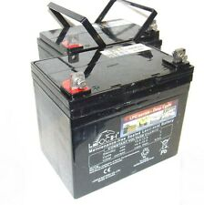 Pair of Leoch 34AH Batteries for Mobility Scooter Wheelchair (32AH 33AH)