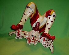 Vintage 1976 hand signed Oskar Raoul Papier Mache Clown / Acrobat.Most intricate