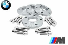 BMW 12 MM & 15 MM STAGGERED HUB CENTRIC WHEEL SPACERS W/ 12x1.5 CHROME LUG BOLTS