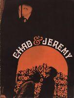 CHAD & JEREMY 1966 DISTANT SHORES TOUR CONCERT PROGRAM BOOK BOOKLET / EXCELLENT