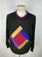 CARLO COLUCCI LANA WOOL Maglione VINTAGE Cardigan Sweater Pullover Tg 50 Uomo