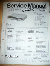 Service Manual for Technics SL-P1, Original