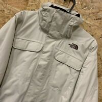 Women's Cream THE NORTH FACE Hyvent Ski Jacket with detachable fur hood - size S