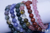 Bracelet 8mm Handmade Gemstone Natural Round Beads Stretch Fashion Jewelry
