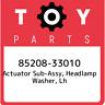85208-33010 Toyota Actuator sub-assy, headlamp washer, lh 8520833010, New Genuin