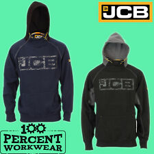 Pro Genuine JCB Heavyweight Hooded Top Hoodie Hoody Sweatshirt Black Navy Blue