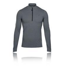 Asics LS Mens Grey Warm Half Zip Long Sleeve Running Jersey Sports Top