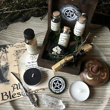 Witch Altar Box Ritual Kit Wicca Pagan Goddess Handmade Supplies © SugarMuses