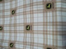 John Deere Tractor Sheets Twin Size  1 flat 1 fitted  Craft Fabric material