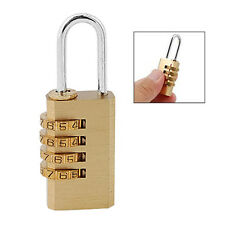 4 Digit Bag Travel Lock Resettable Combination Padlock N3