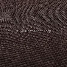 10 mètres de soft pointillée texturé velours upholstery tissu couleur chocolat