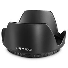 58MM Tulip Flower Lens Hood for Canon Rebel T5, T6, T6i, T7i, EOS 80D, EOS 77D