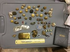 Us Military Pin and Button Lot