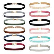 Choker Necklace Set Women's Velvet Mix Color Lace Adjustable Thin Collar 12PC